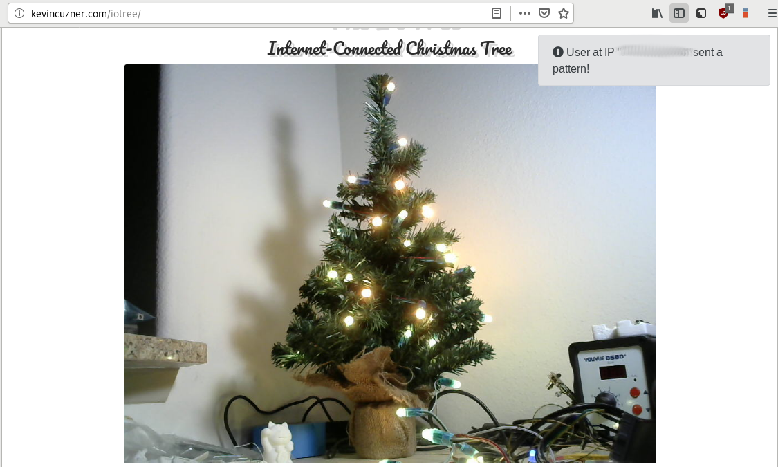Internet connected Christmas Tree on Livestream